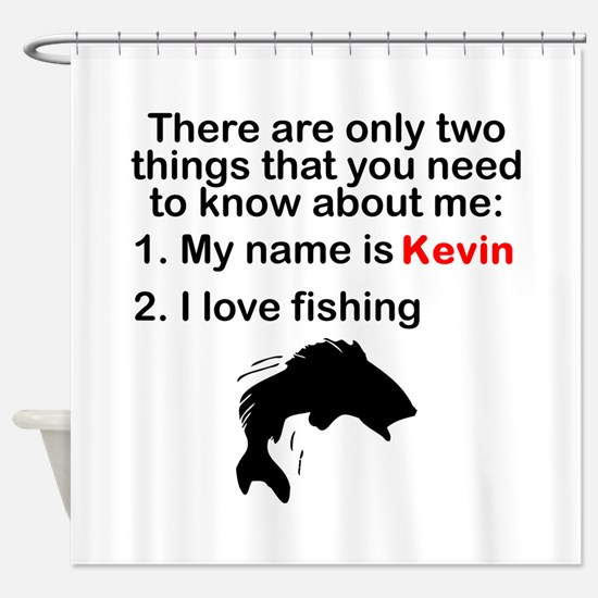 Two Things Fishing Shower Curtain