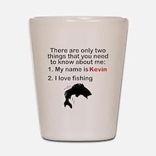 Two Things Fishing Shot Glass