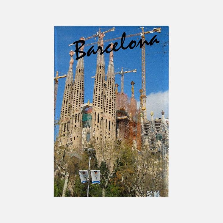 Barcelona_5.5x8.5_Journal_LaSagrd Rectangle Magnet