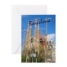 Barcelona_5.5x8.5_Journal_LaSagrdaFa Greeting Card