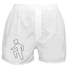 im shufflin outline black Boxer Shorts