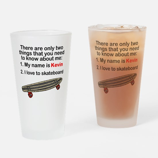 Two Things Skateboarding Drinking Glass