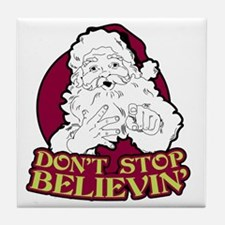 Dont Stop Believin Tile Coaster