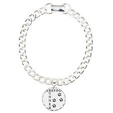 barefoot_runner_dog Charm Bracelet, One Charm
