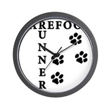 barefoot_runner_dog Wall Clock