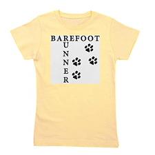 barefoot_runner_dog Girl's Tee