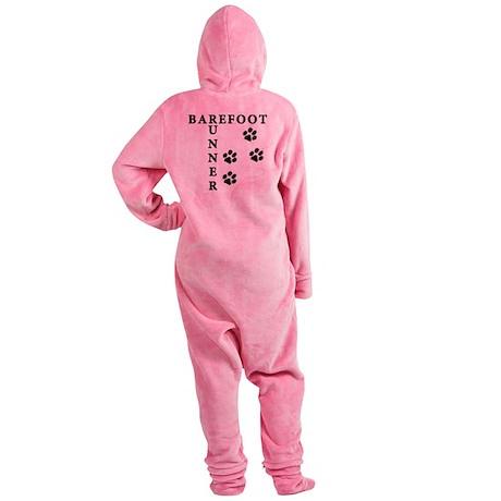 barefoot_runner_dog Footed Pajamas