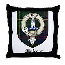 Malcolm Clan Crest Tartan Throw Pillow