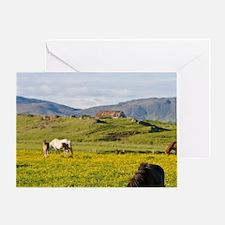 Icelandic Horses in northeastern Ice Greeting Card