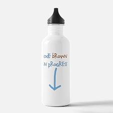 code brown in progress Water Bottle