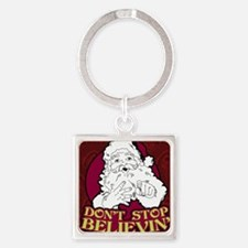 Dont Stop Believin poster Square Keychain
