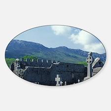 Ireland, County Mayo. Murrisk Abbey Sticker (Oval)