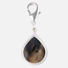 Icelandic horses, Skagafjor Silver Teardrop Charm