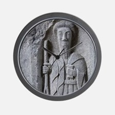 Medieval stone carving of a Saint at Je Wall Clock