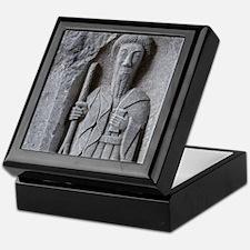 Medieval stone carving of a Saint at  Keepsake Box