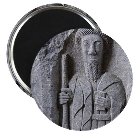 Medieval stone carving of a Saint at Jerpoi Magnet