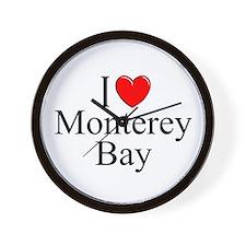 """""""I Love Monterey Bay"""" Wall Clock"""