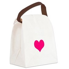valentine heart be my 1 light Canvas Lunch Bag