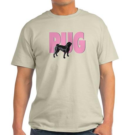 Black Pug/Pink Pug - Light T-Shirt