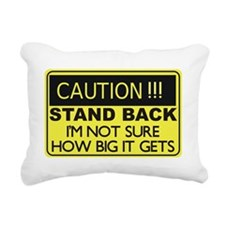 CAUTION STAND BACK Rectangular Canvas Pillow