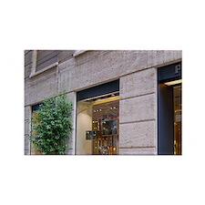 Italy, Milan, Prada storefront in Rectangle Magnet