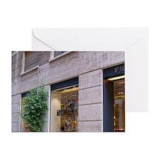 Italy, Milan, Prada storefront in Fa Greeting Card