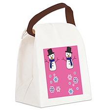 snowman3 Canvas Lunch Bag