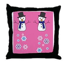 snowman3 Throw Pillow