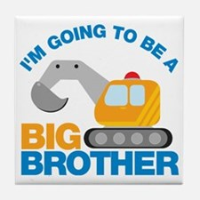 DigTruckGoingToBeBigBrother Tile Coaster