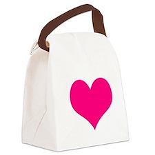 valentine heart 1 light Canvas Lunch Bag