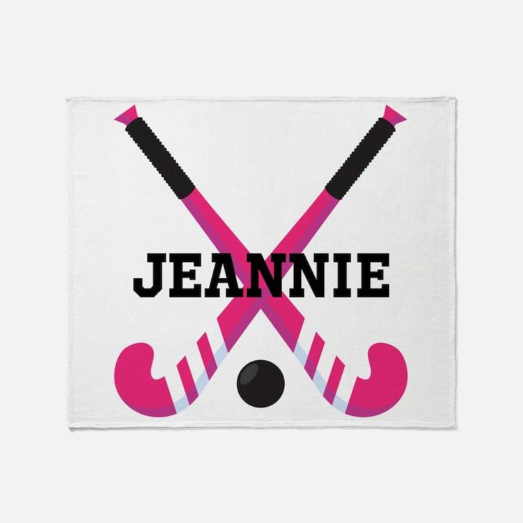Personalized Field Hockey Throw Blanket