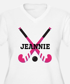 Personalized Field Hockey Plus Size T-Shirt