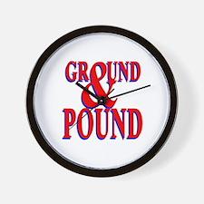Ground & Pound Wall Clock