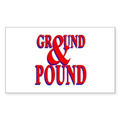 Ground & Pound Rectangle Decal