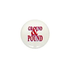 Ground & Pound Mini Button (10 pack)