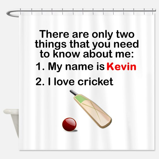 Two Things Cricket Shower Curtain