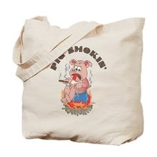 Smoking Piggy Tote Bag