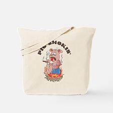 Smoking Piggy Tote Bag