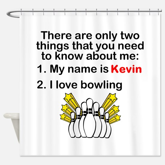 Two Things Bowling Shower Curtain