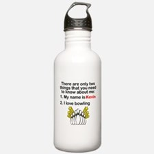 Two Things Bowling Sports Water Bottle