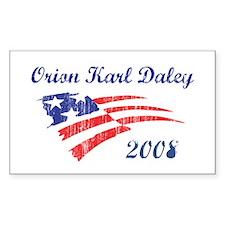 Orion Karl Daley (vintage) Rectangle Decal