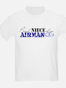 Proud Niece of an Airman Kids T-Shirt
