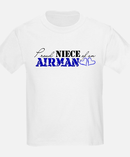 Proud Niece of an Airman Kids T-Shirt