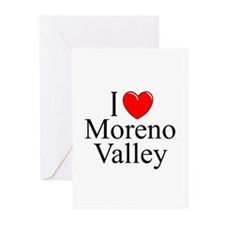 """I Love Moreno Valley"" Greeting Cards (Package of"