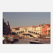 Gondoliers shuttle people Postcards (Package of 8)