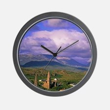 Connemara. View of the town of Clifdenw Wall Clock