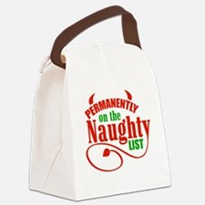 Naughty List Canvas Lunch Bag