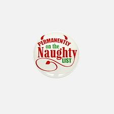 Naughty List Mini Button