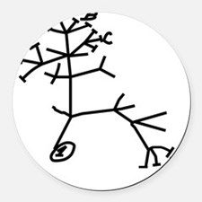 thinkingtree4cups Round Car Magnet