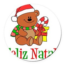 Feliz Natal Baby Shirt Round Car Magnet